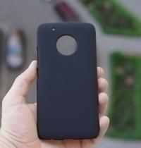 Чехол Motorola Moto G5 Plus черный пластик