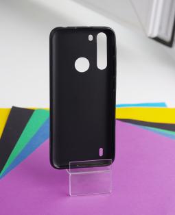 Чехол Motorola One Fusion чёрный матовый - фото 3