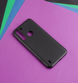 Чехол Motorola One Fusion чёрный матовый