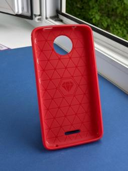 Чехол Motorola Moto C красный матовыйЧехол Motorola Moto C красный матовый - фото 2