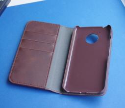 Чехол Motorola Moto E4 США Ondigo книжка коричневая - фото 2