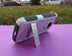 Чехол Motorola Moto E4 США Ondigo белый с ножкой - фото 3