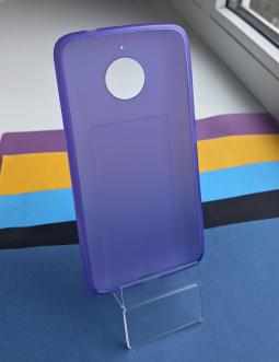 Чехол Motorola Moto E4 Plus (Европа) голубой - фото 2