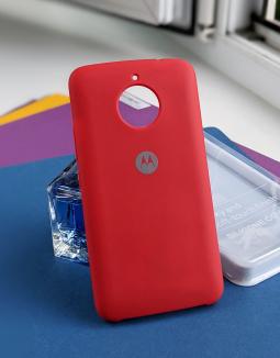 Чехол Motorola Moto E4 Plus (Евро) красный original case Silky