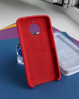 Чехол Motorola Moto E4 Plus (Евро) красный original case Silky - фото 2