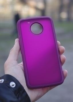 Чехол Motorola Moto E4 Plus Incipio сиреневый USA - изображение 2
