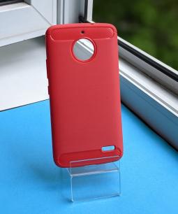Чехол Motorola Moto E4 (Европа) красный матовый