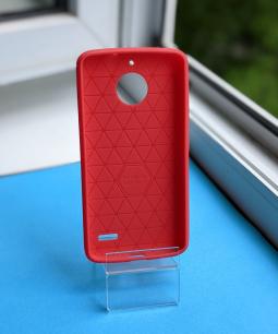 Чехол Motorola Moto E4 красный матовый - фото 2