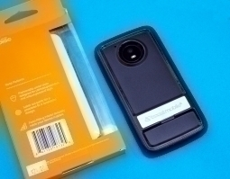 Чехол Motorola Moto E4 США Ondigo чёрный с ножкой - фото 1