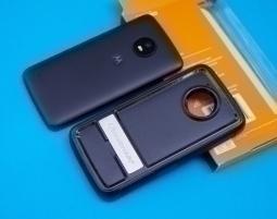 Чехол Motorola Moto E4 США Ondigo чёрный с ножкой