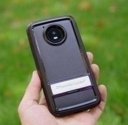 Чехол Motorola Moto E4 США Ondigo чёрный с ножкой - фото 2
