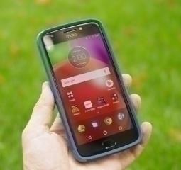 Чехол Motorola Moto E4 США Ondigo синий с ножкой - фото 3