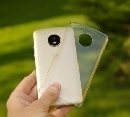 Чехол Motorola Moto E4 прозрачный пластик USA