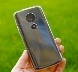 Чехол Motorola Moto E5 прозрачный TPU - фото 2