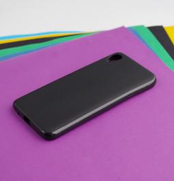 Чехол Motorola Moto E6 чёрный матовый - фото 3
