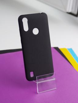 Чехол Motorola Moto E6s чёрный матовый