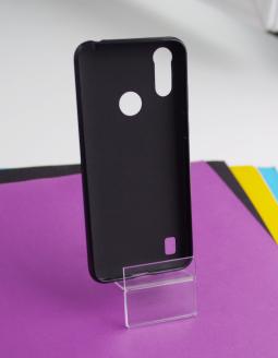 Чехол Motorola Moto E6s чёрный матовый - фото 2