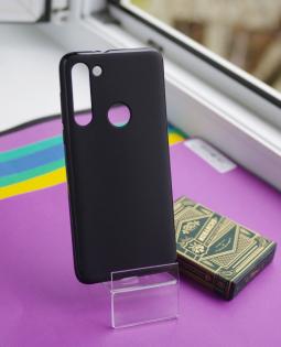 Чехол Motorola Moto G8 черный матовый - фото 4