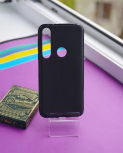 Чехол Motorola Moto G8 Plus черный матовый