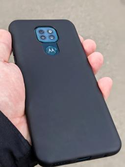 Чехол Motorola Moto G9 Play чёрный матовый - фото 3