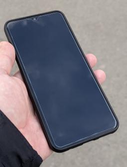 Чехол Motorola Moto G9 Play чёрный матовый - фото 4