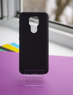 Чехол Motorola Moto G9 Play чёрный матовый - фото 5