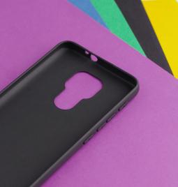 Чехол Motorola Moto G9 Play чёрный матовый - фото 6