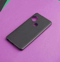Чехол Motorola One Hyper чёрный матовый - фото 5