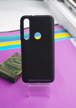 Чехол Motorola Moto One Macro черный матовый - фото 2