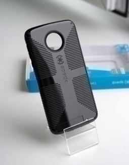 Чехол Motorola Moto Z Play Speck CandyShell Grip чёрный