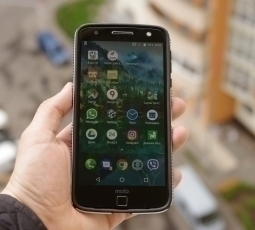 Чехол Motorola Moto Z Speck black / white - изображение 3