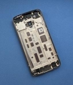 Корпус Motorola Moto G5 Plus крышка серая А-сток - фото 2
