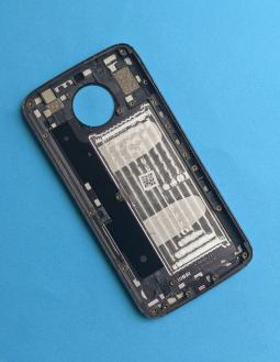 Крышка (корпус) Motorola Moto G5s Plus серая C-сток - фото 2