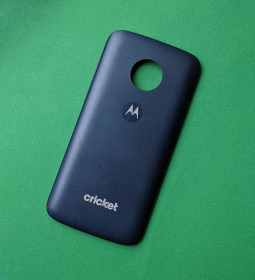 Крышка задняя Motorola Moto E5 Play синия B-сток