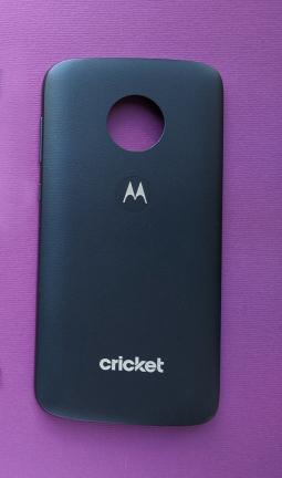 Крышка Motorola Moto E5 Play тёмно-синяя А-сток
