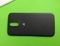 Крышка Motorola Moto G4 Plus чёрная