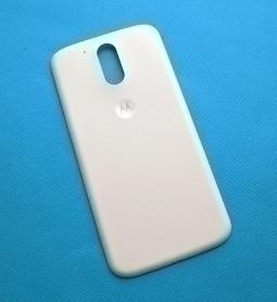 Крышка Motorola Moto G4 Plus белая А-сток