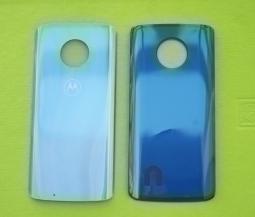 Крышка Motorola Moto G6 голубая