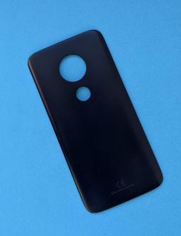 Крышка задняя Motorola Moto G7 Play чёрная (А-сток)
