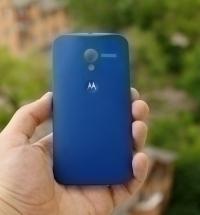 Крышка Motorola Moto Х синяя - изображение 2