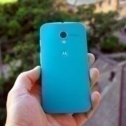 Крышка Motorola Moto X бирюзовая