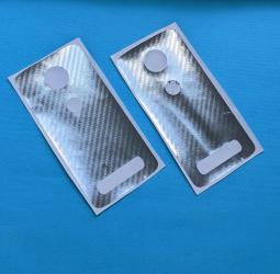 Защитная плёнка задняя Motorola Moto Z2 Force кевлар серебро
