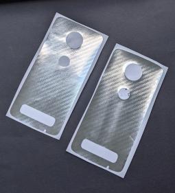Защитная плёнка задняя Motorola Moto Z3 кевлар серебро