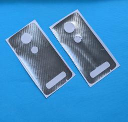 Защитная плёнка задняя Motorola Moto Z4 кевлар серебро