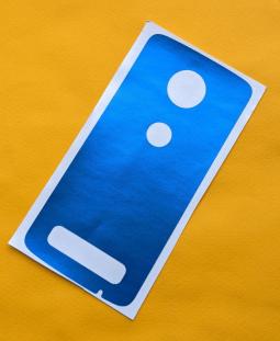 Защитная плёнка задняя Motorola Moto Z4 синяя