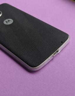 Рамка защитная Motorola Moto Z Droid совместима с Moto Mods прозрачная (А-сток) - фото 3