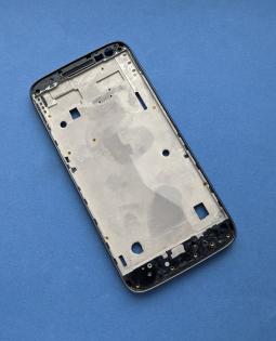Средняя часть корпуса Motorola Moto G4 Play серая боковая рамка B-сток - фото 4