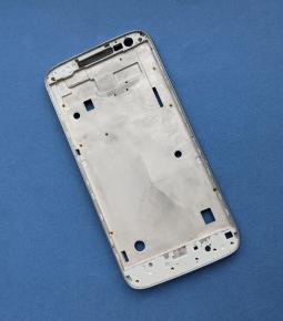 Средняя часть корпуса Motorola Moto G4 Play серебро боковая рамка А-сток - фото 3