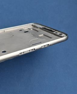 Средняя часть корпуса Motorola Moto G4 Play серебро боковая рамка А-сток - фото 5