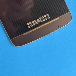 Накладка стекло нижняя Motorola Moto Z Droid золотая А-сток